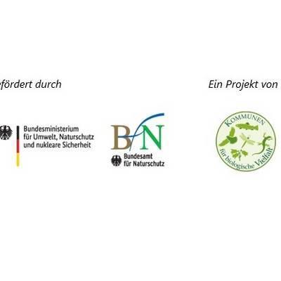 Logos gefördert durch BMU u. BfN Projekt von Kommbio